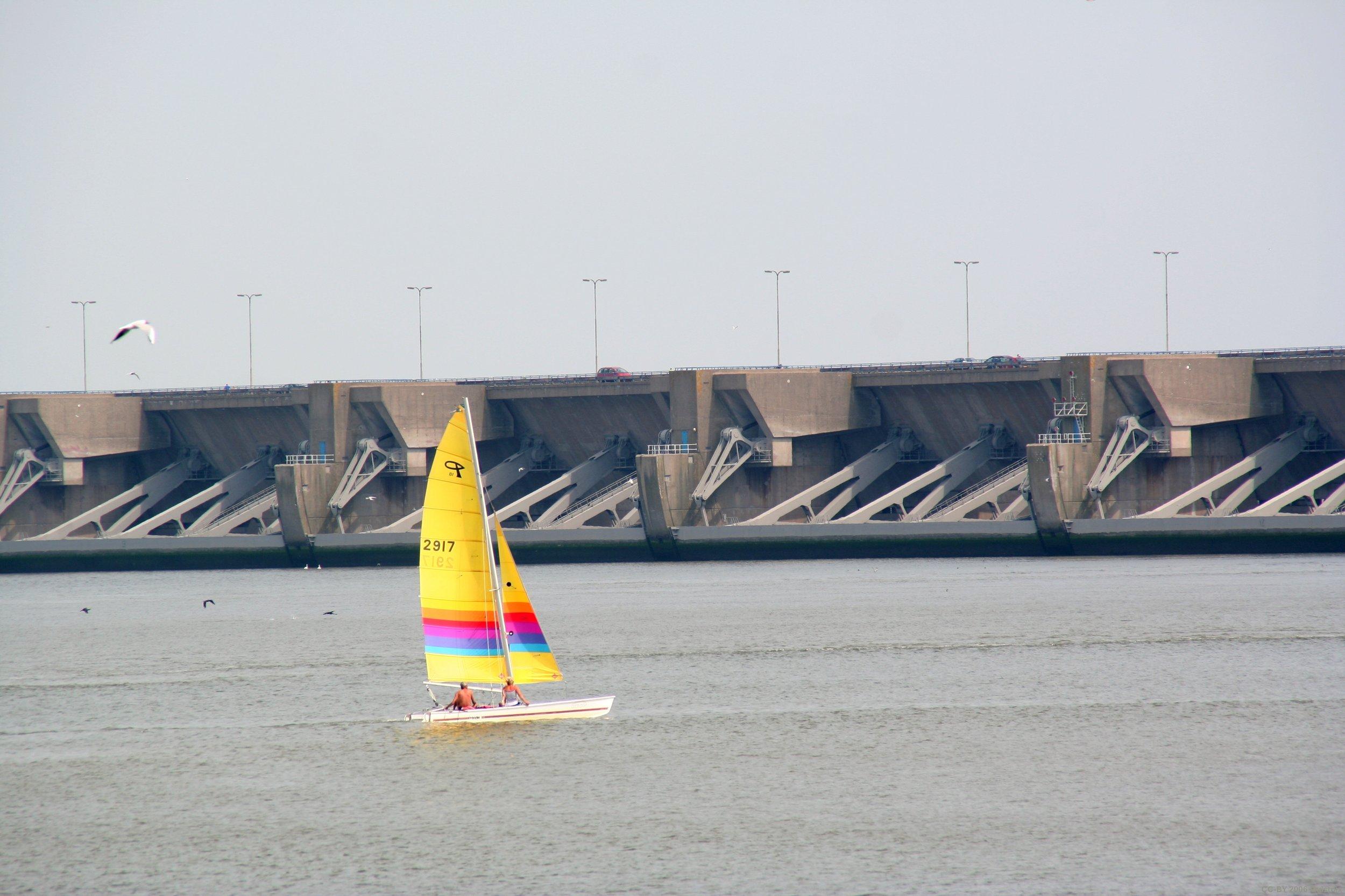 Haringvliet Dam: stock photo taken from Google
