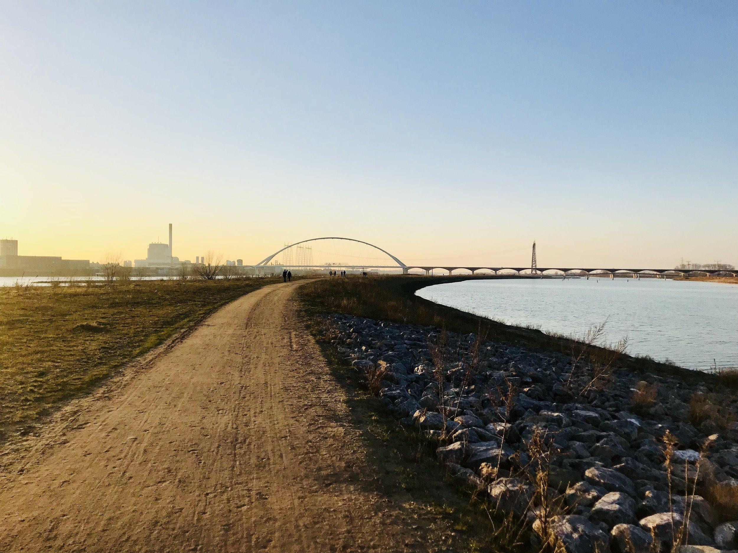 Making Room for the River in Nijmegen, Netherlands: photo by Arlen Stawasz