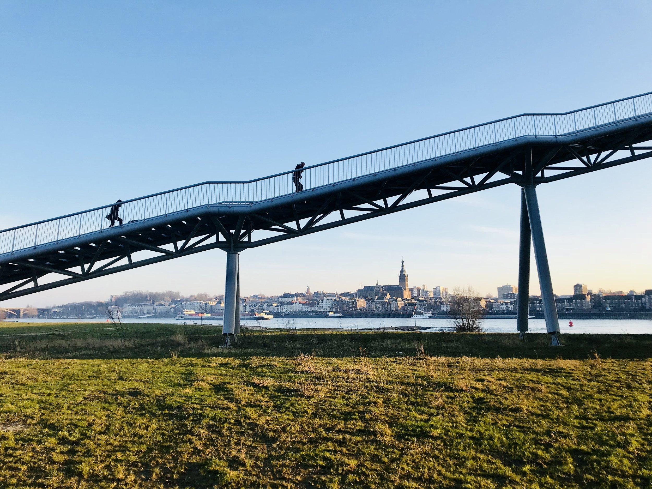 Making Room for the River, Nijmegen, Netherlands: photo by Arlen Stawasz