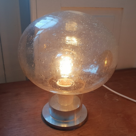 Lamp made from glass sphere