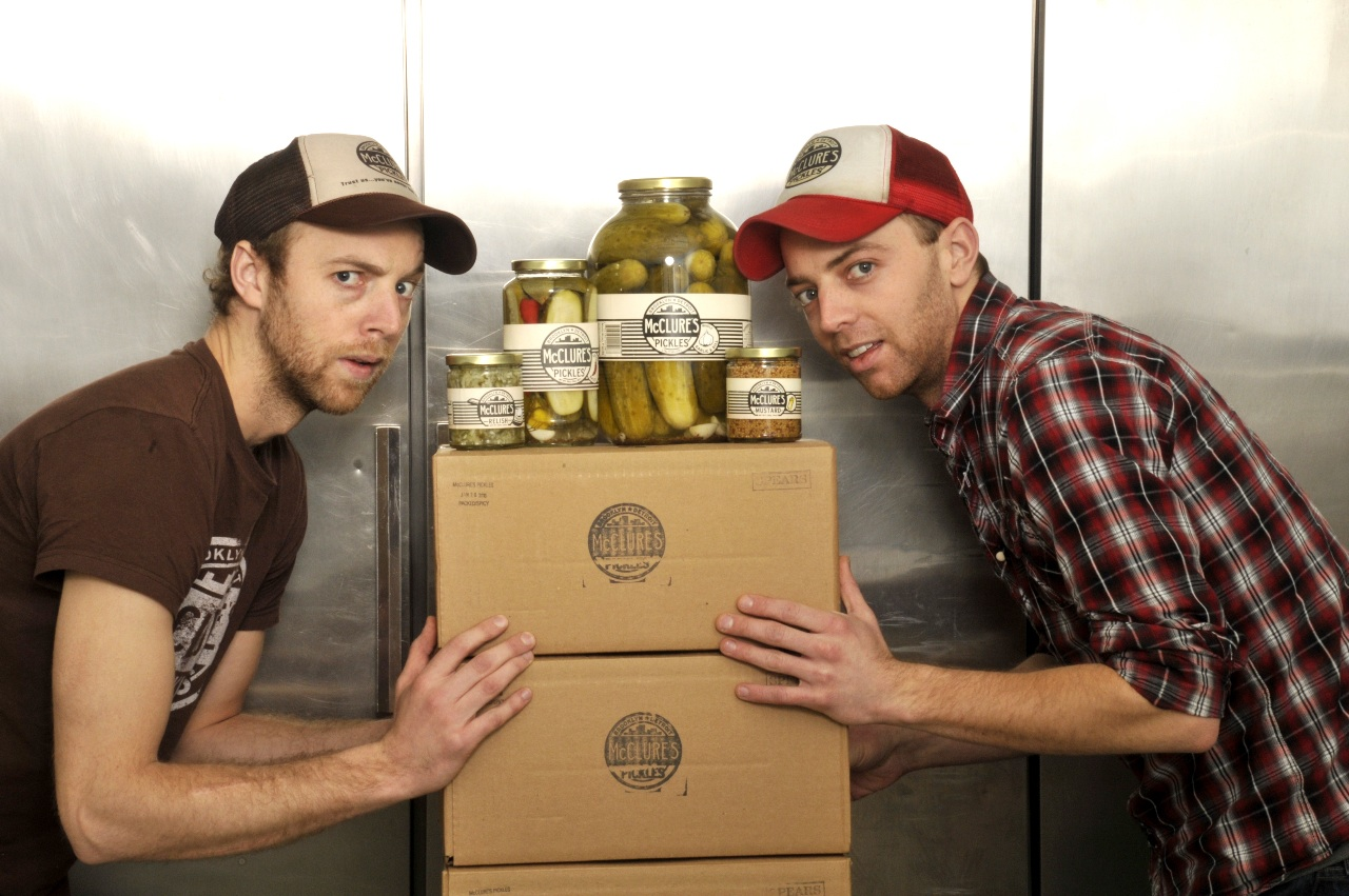 Joe and Bob McClure, brothers, and co-founders of McClures Pickles. Founded in 2006.