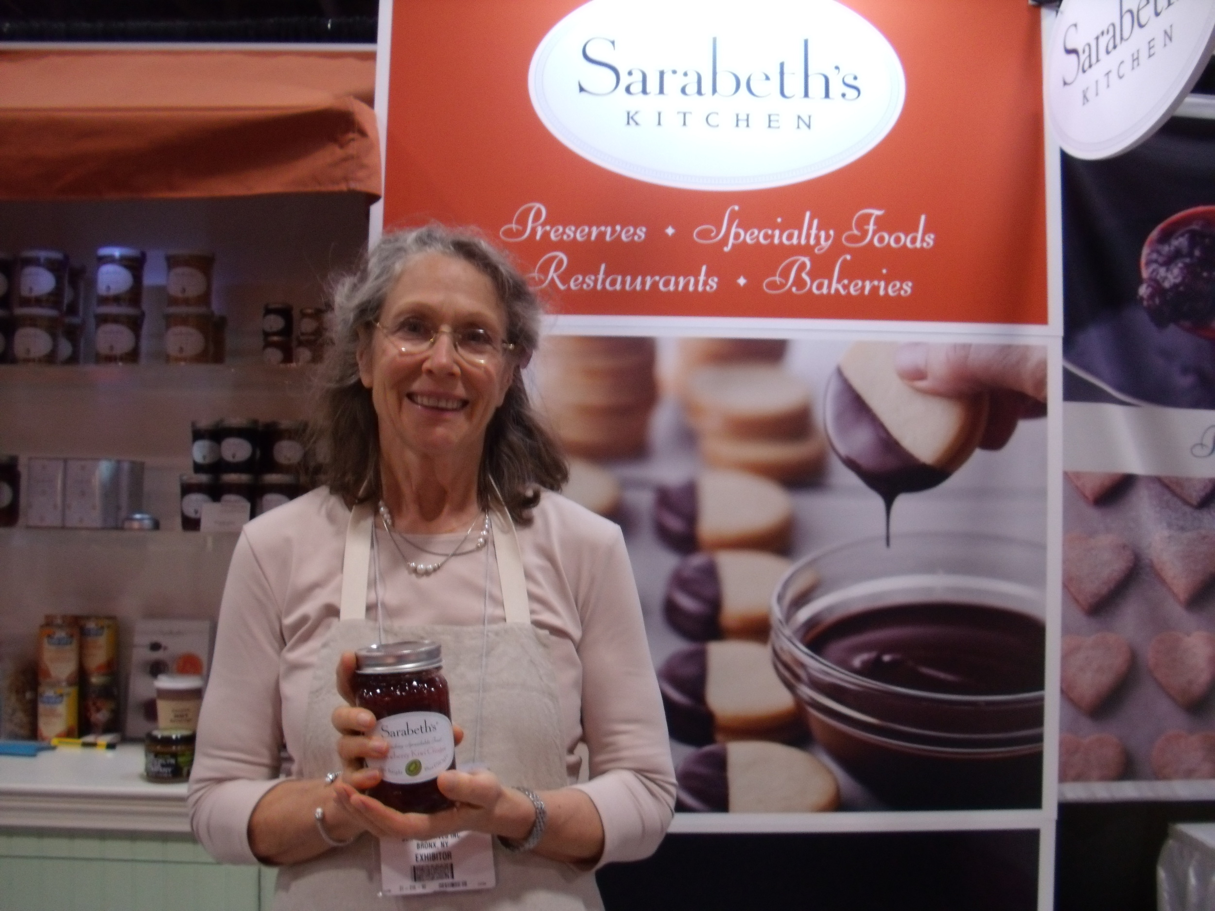 Sarabeth Levine, Founder and CEO of Sarabeth's. Picture taken at the 2015 Specialty Foods Association New York Fancy Food Show.