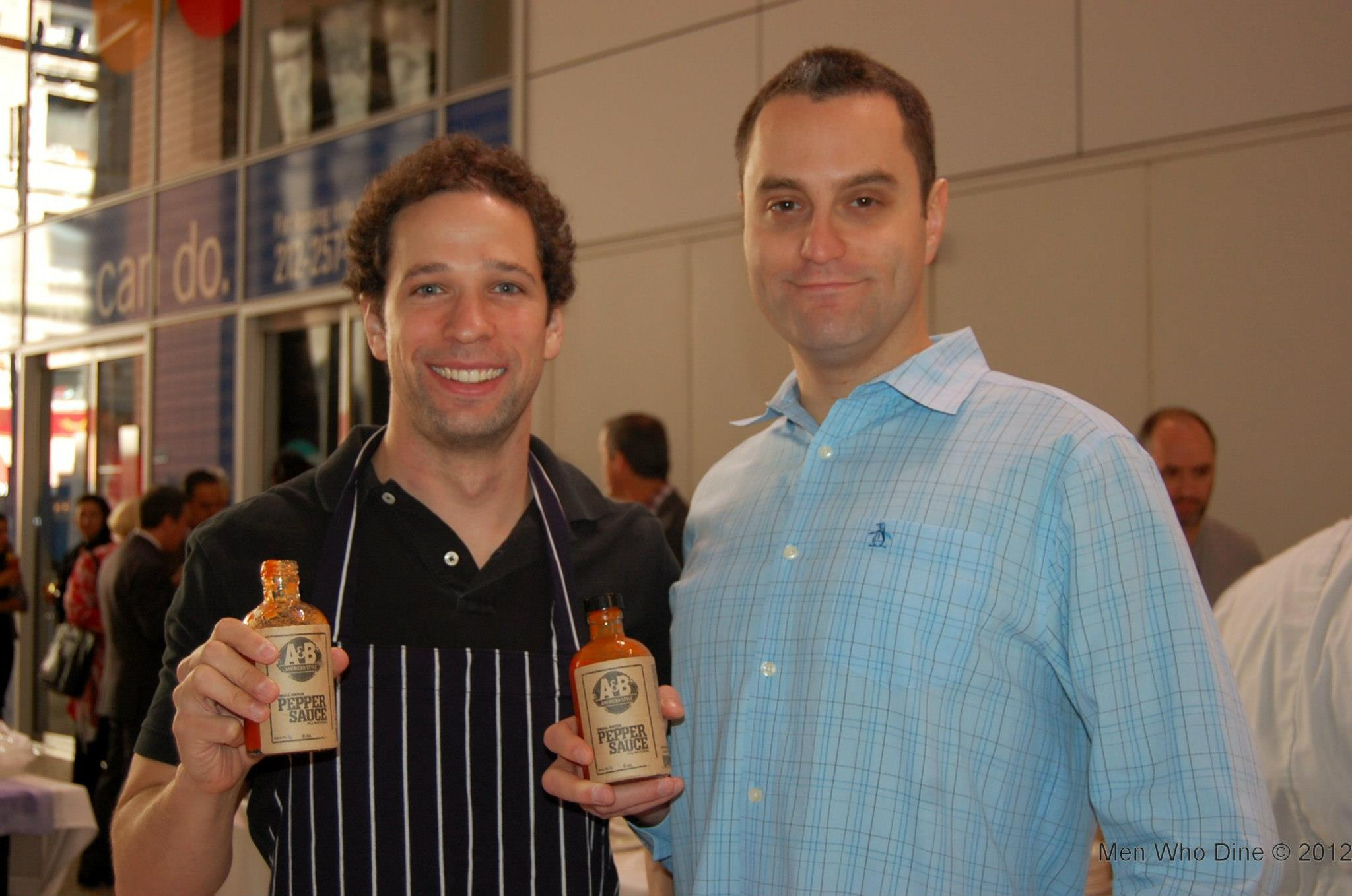 Brian Ballan and Ariel Fliman, life-long friends and co-founders of A&B American Style Pepper Sauces.