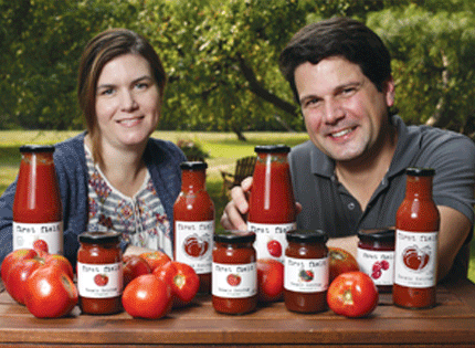 Theresa Viggiano and Patrick Leger, Husban and Wife and Co-Founders of First Field.