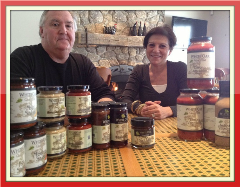 John and Renee Hooper, co-founders of White Oak Farm & Table sauces and condiments.