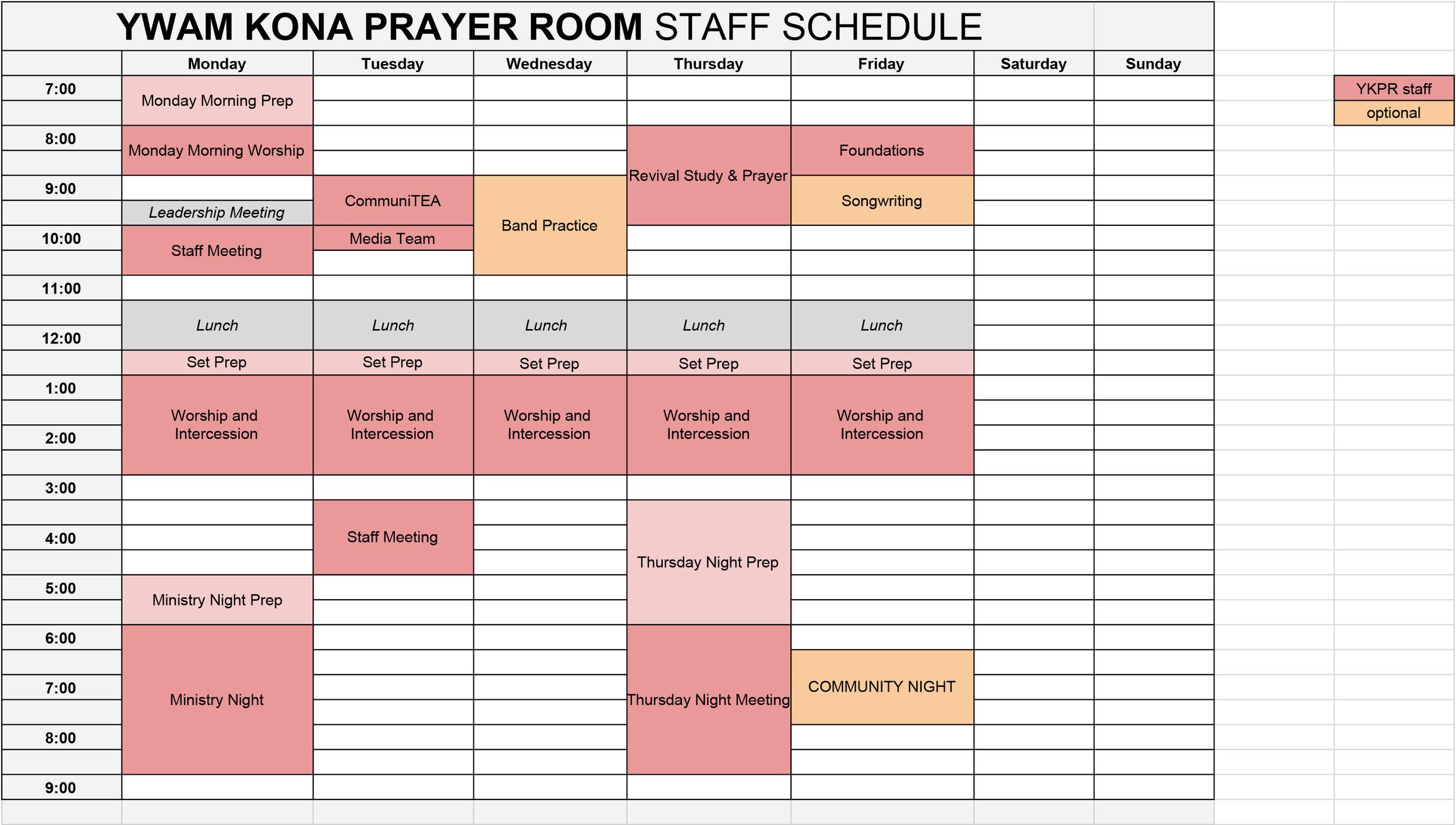 YKPR STAFF SCHEDULE - FALL  - Staff Schedule.jpg