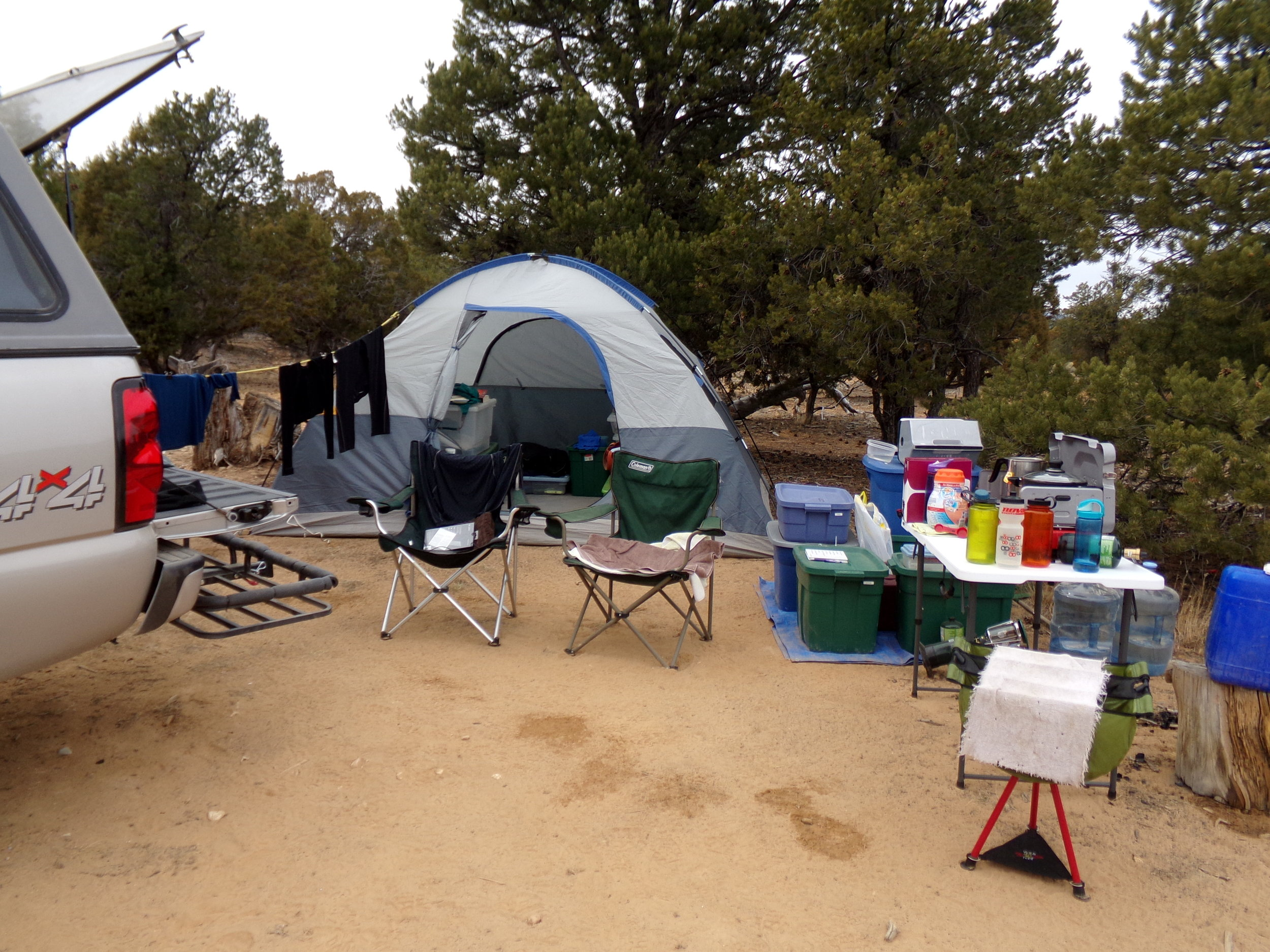 Our camp in Dixie National Forest, UT