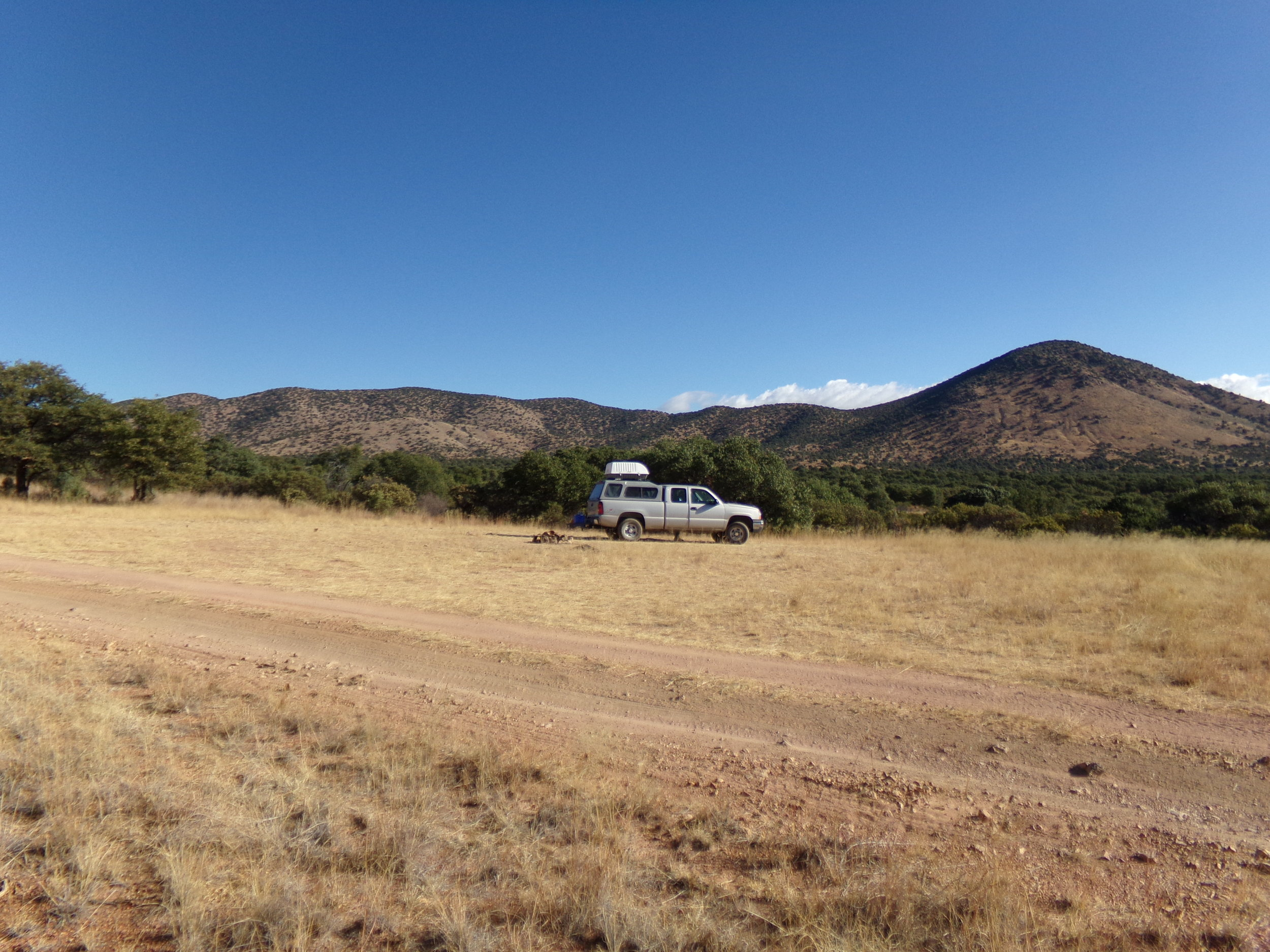 Camping in the Canelo Hills