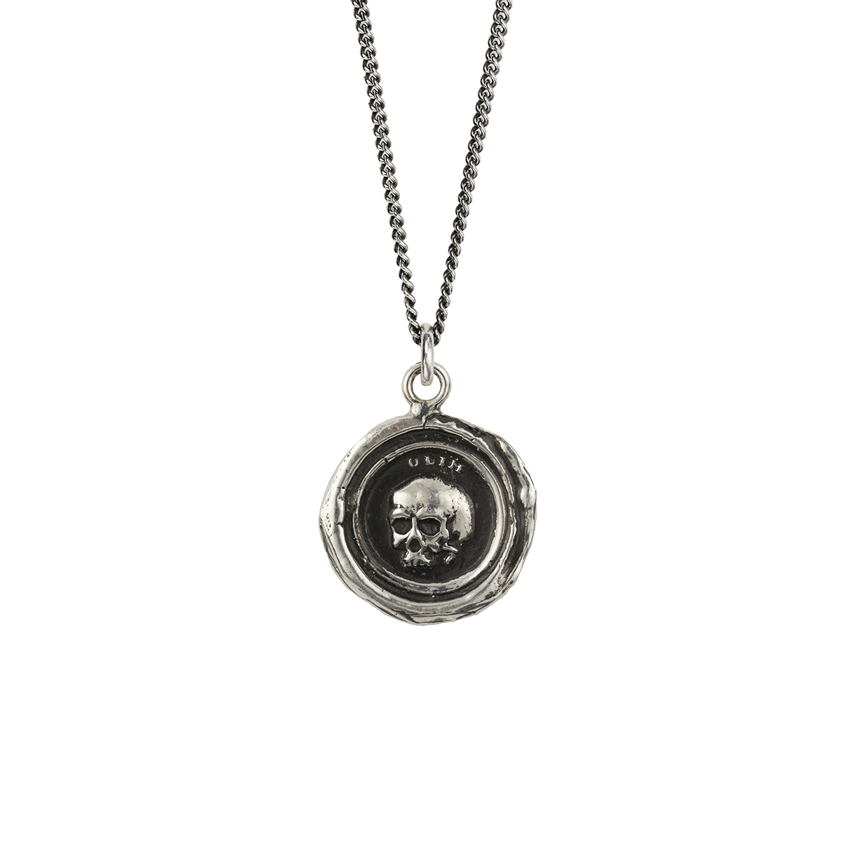 What Once Was - This talisman reads 'Olim' in Latin, which means 'Once'. The skull, a classic memento mori, is a reminder that life is fleeting.