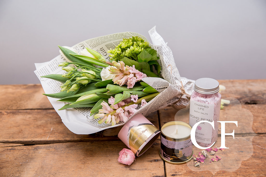 Sweet Gifts - Artisan candles, housemade bath salts and spring bouquets make no brainer gifts!