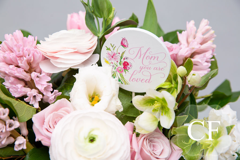 - The blush medley pairs perfectly with our sign add on's, which double as a cardholder for your message!