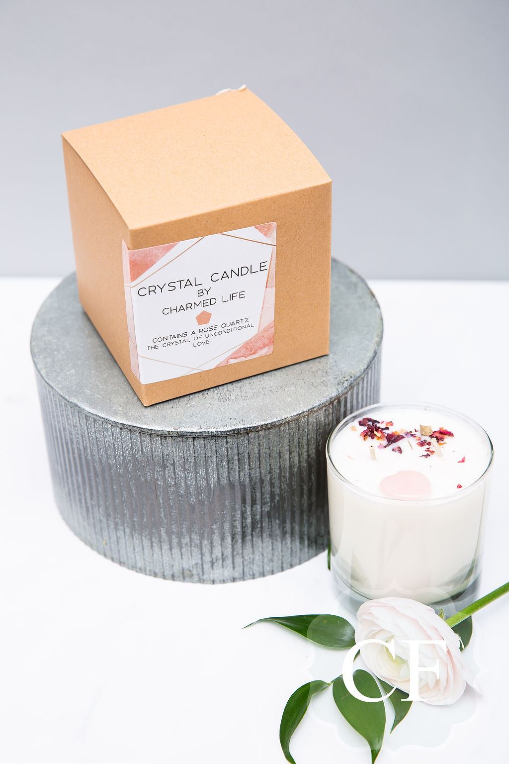 - The Unconditional Love Candle. This candle contains a heart shaped rose quartz- the love stone.