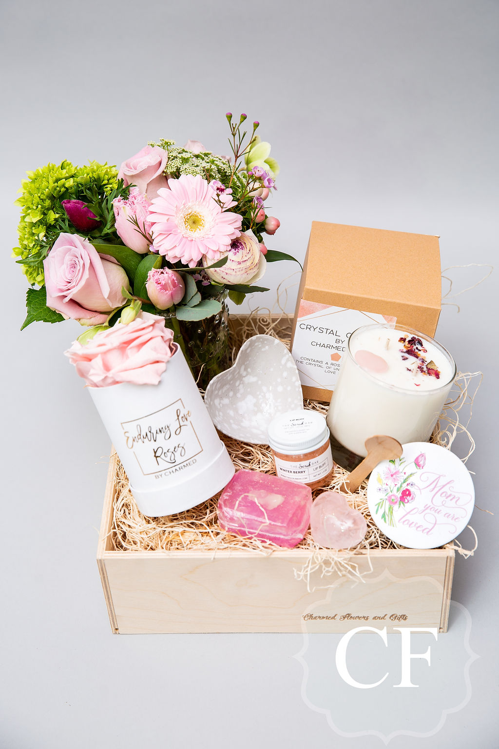 - The unconditional love candle can also be found in this themed bundle. Sure to make your Mom tear up on her special day! We spend months sourcing and curating the perfect items to make these thoughtful bundles. All wrapped up for your convenience.