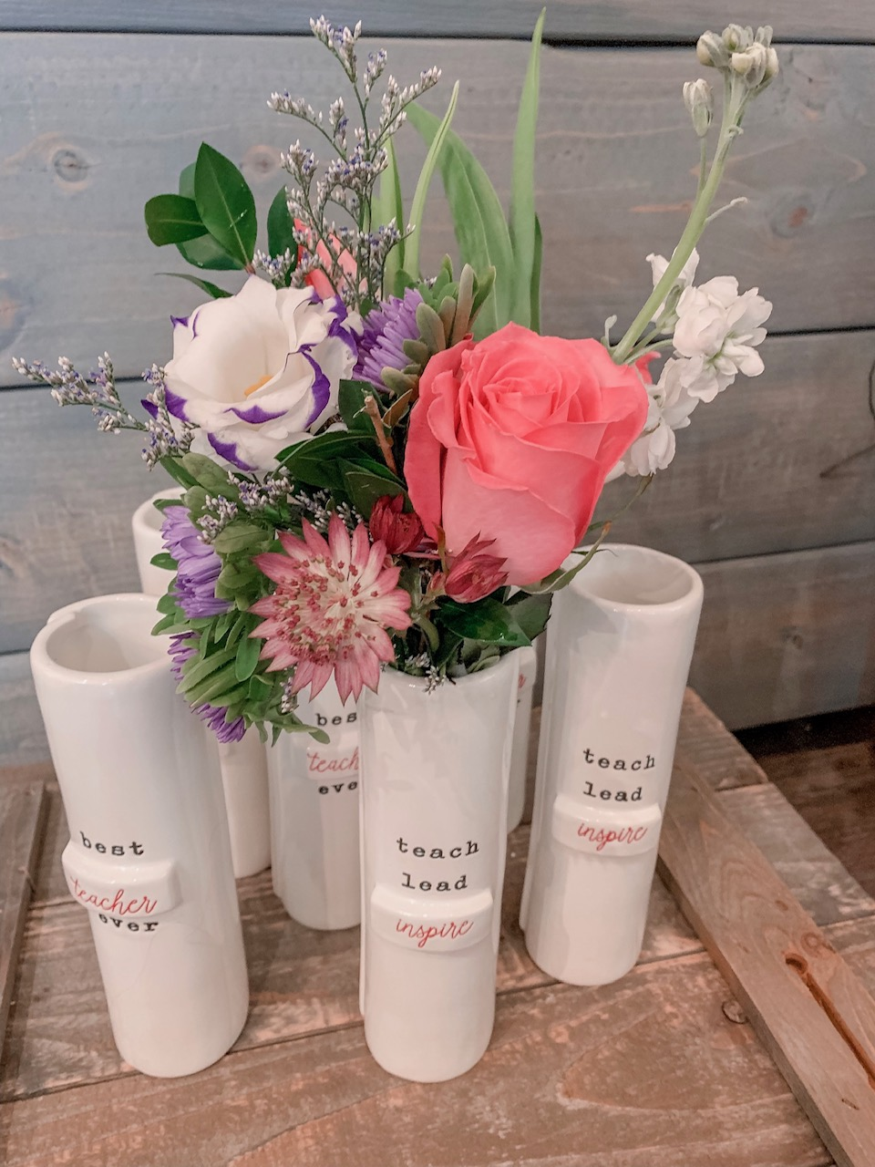 Teacher Bud vase - $24 including flowersINSPIRE STYLE SOLD OUT