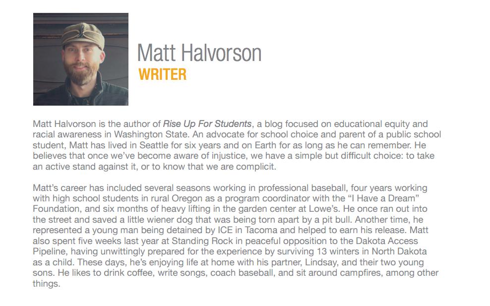 Matt Halvorson WA Charters Annual Conference bio