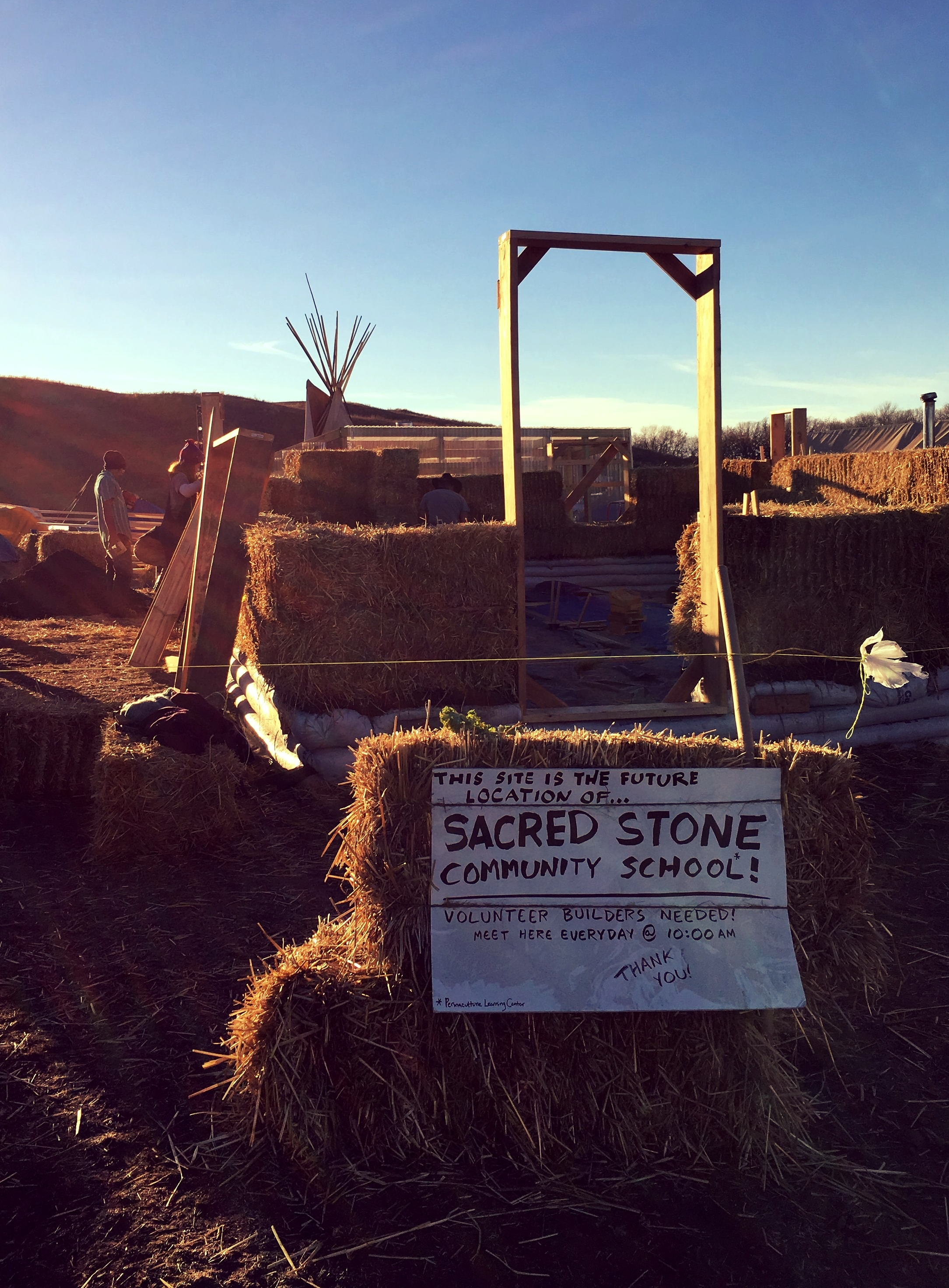 Sacred Stone Community School in Cannonball, ND, November 2016. Photo by Matt Halvorson.