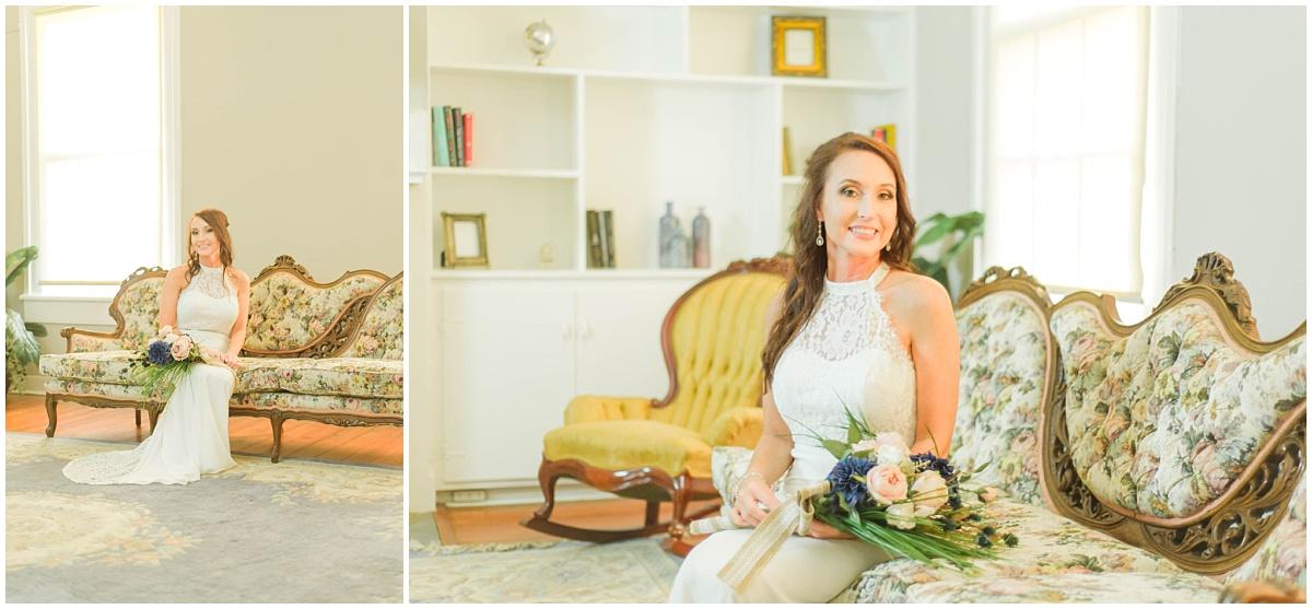 Bridal portrait session at Drayton House in Manning South Carolina Wedding Portrait Classic Southern Bride Plantation Home