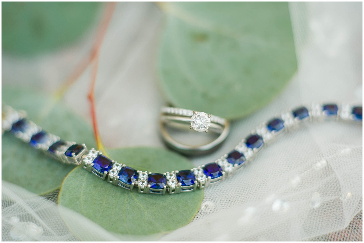 This gorgeous sapphire and diamond tennis bracelet was a gift to Jessie from her father.