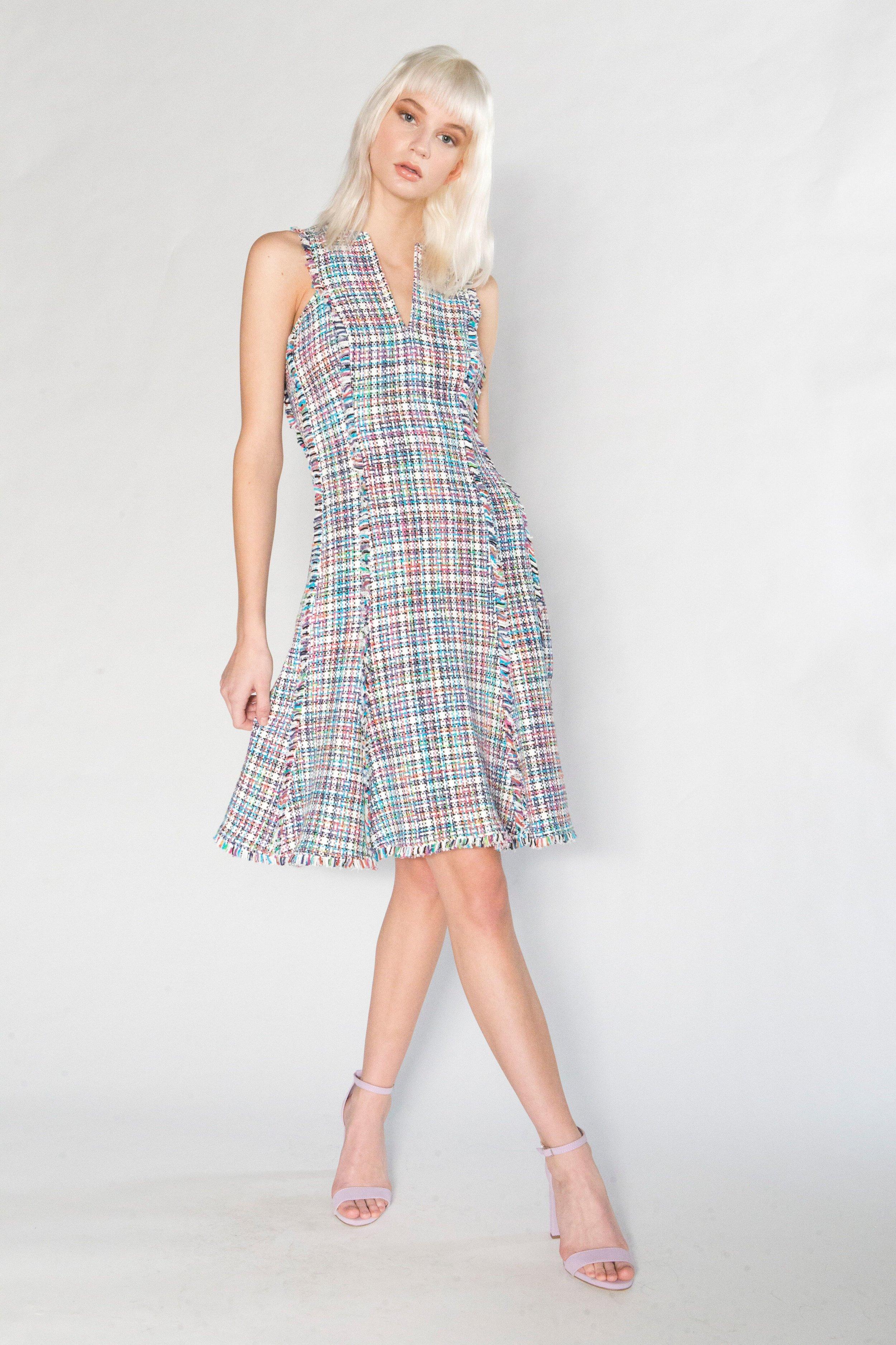 Summer Tweed Gored Dress