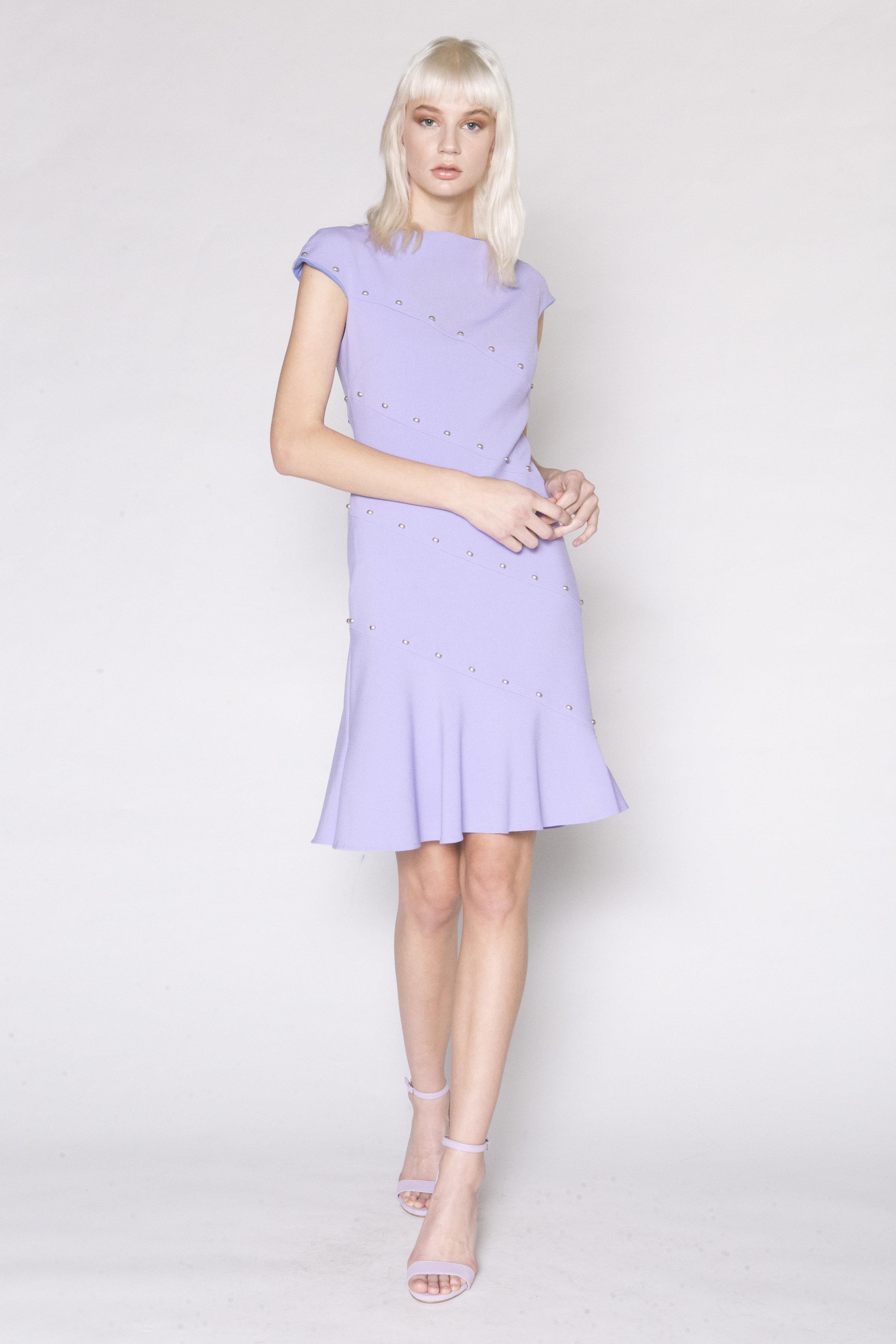 Bias Button Flippy Dress