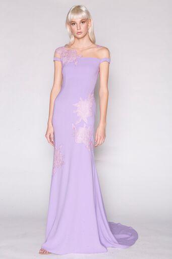 Lavender Floral Applique gown