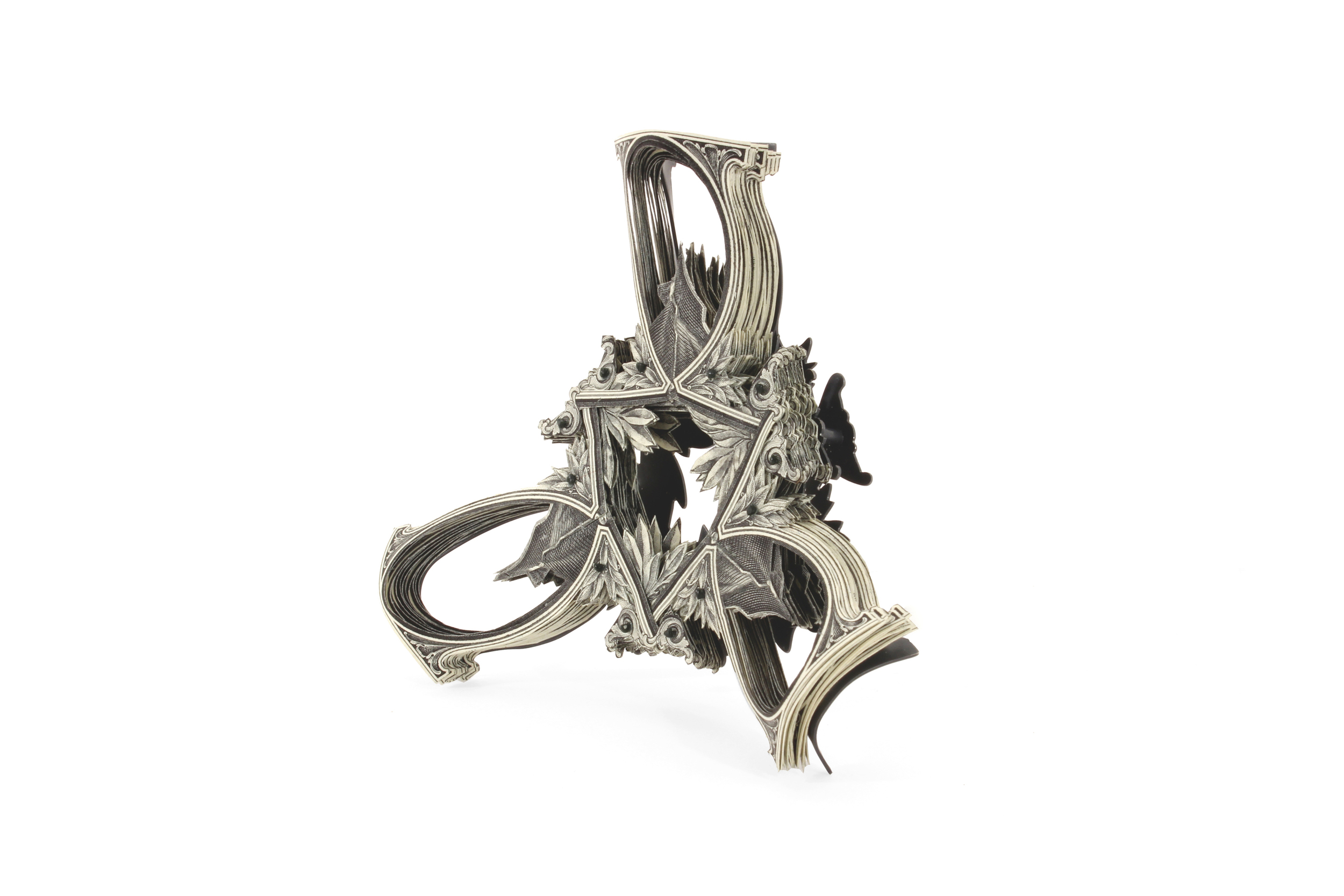 $90.00 Currency Converted   |  Brooch Backside  |  US Dollars, Monofilament, Silver, and Surgical Steel  |  2014  |  Private Collection  |  1/1