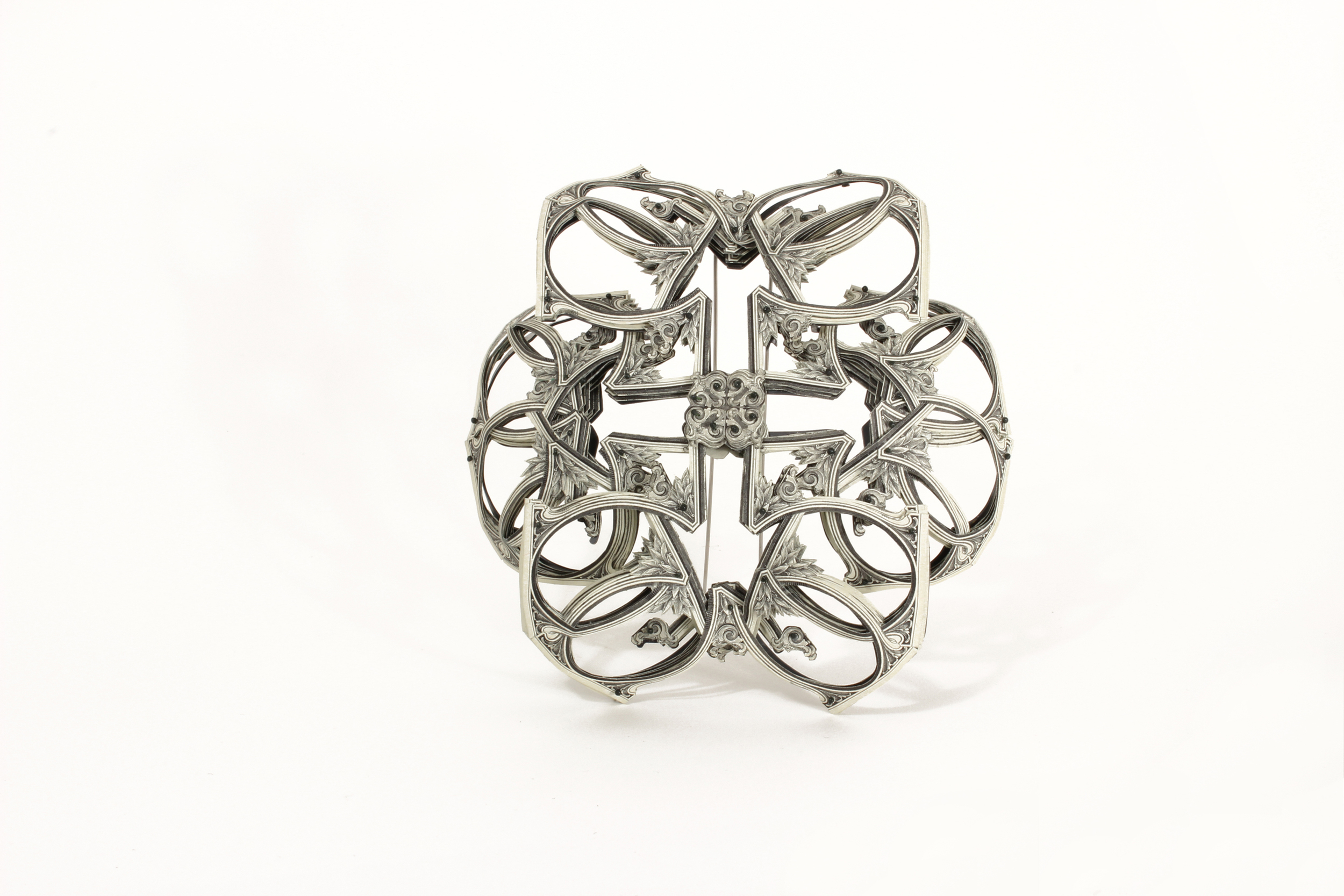 $104.00 Currency Converted  | Brooch | US Dollars, Monofilament, Silver, and Surgical Steel | 2015 | Private Collection | 1/1