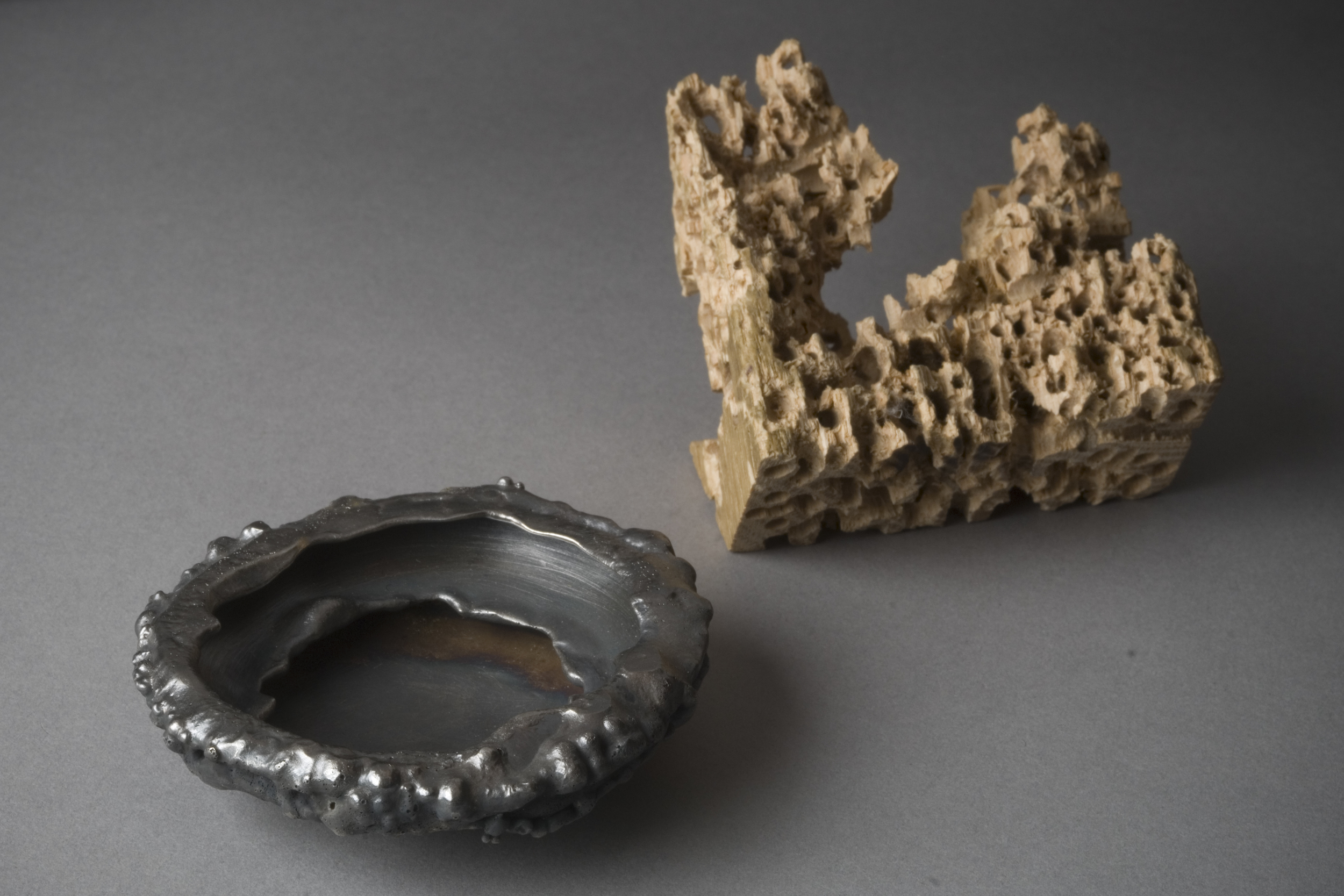 inconsolable  | Detail 1 | Wooden Bench Pin and Silver | 2009