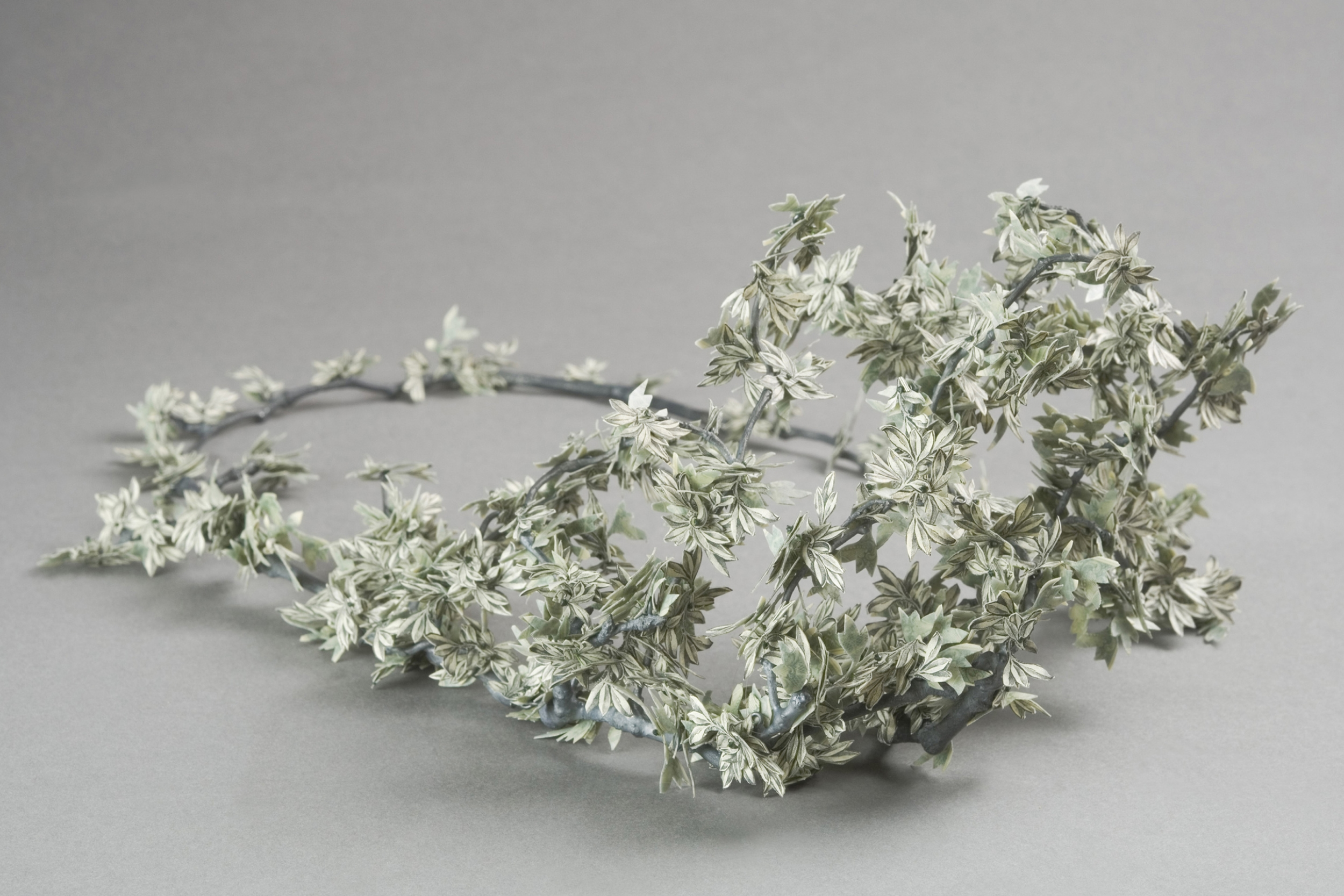 $250.00 Currency Converted  | Necklace | US Dollars, Latex, Silver, and Monofilament | 2012 | Photo Credit Marc Creedon | CODA Museum Permanent Collection | 1/1
