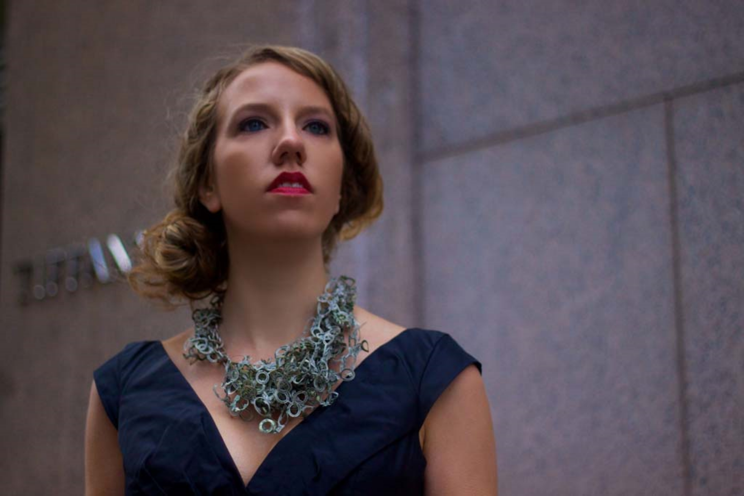Green with Envy  | Necklace | US Dollars, Latex, Monofilament, and Silver | 2011 | Photo Credit Rachit Shukla | 1/1