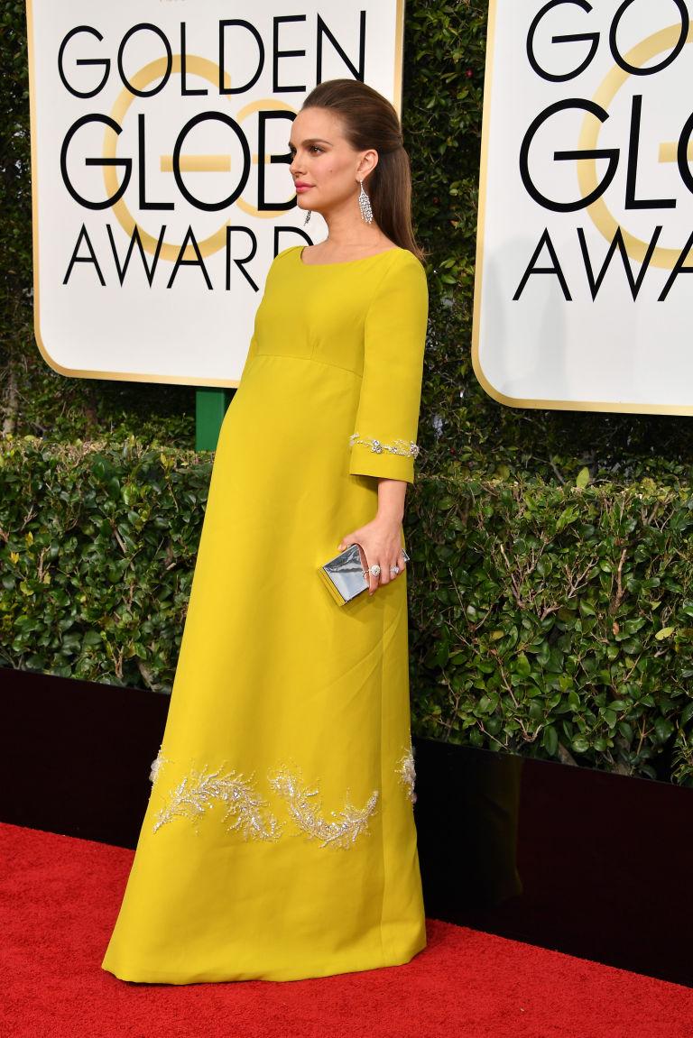 Natalie Portman, wearing Prada