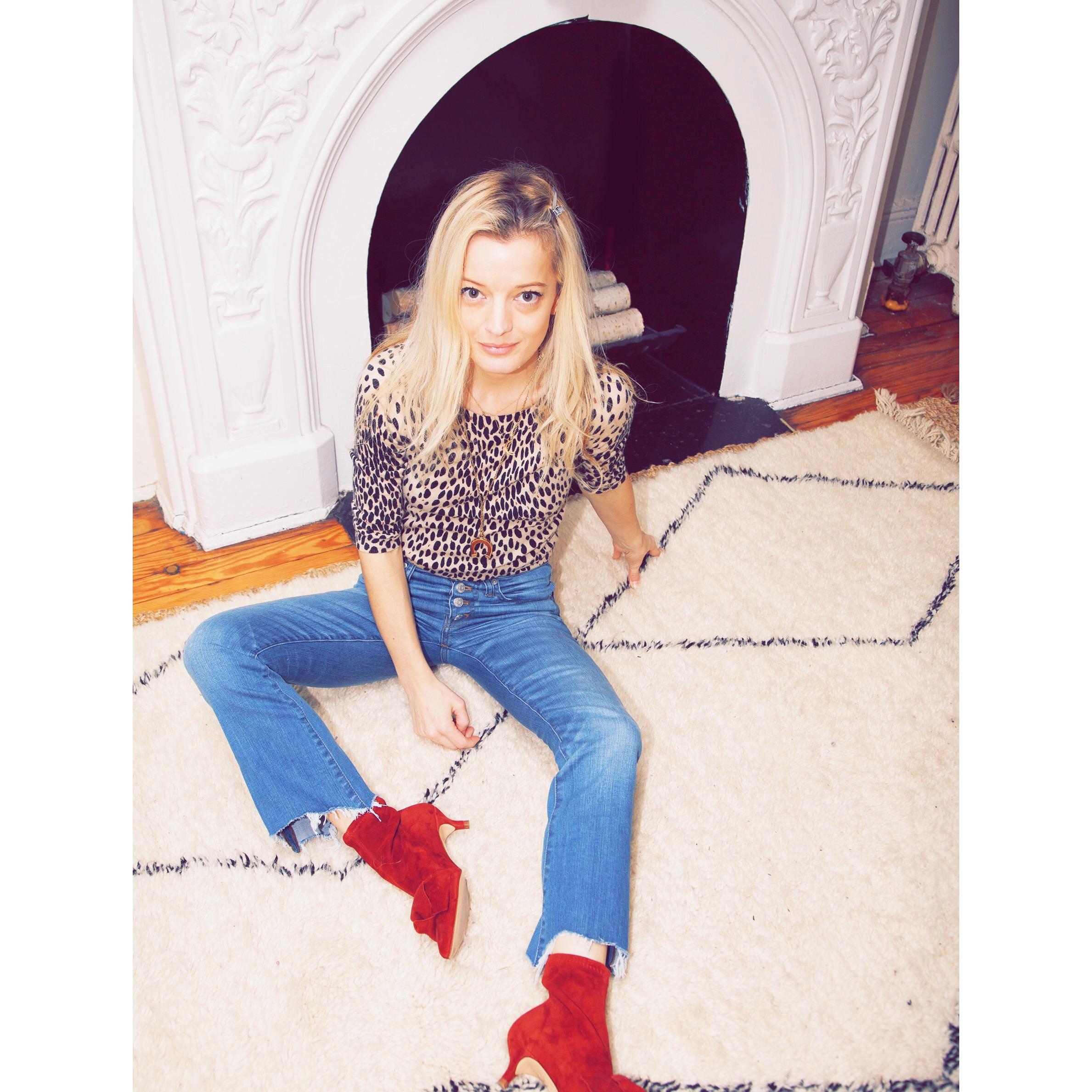 Ph: Me sitting on my treasured Moroccan rug, shot by James Dimmock