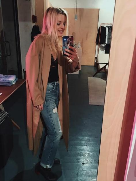 Me selfie'ing in the wonderful AYR pop shop