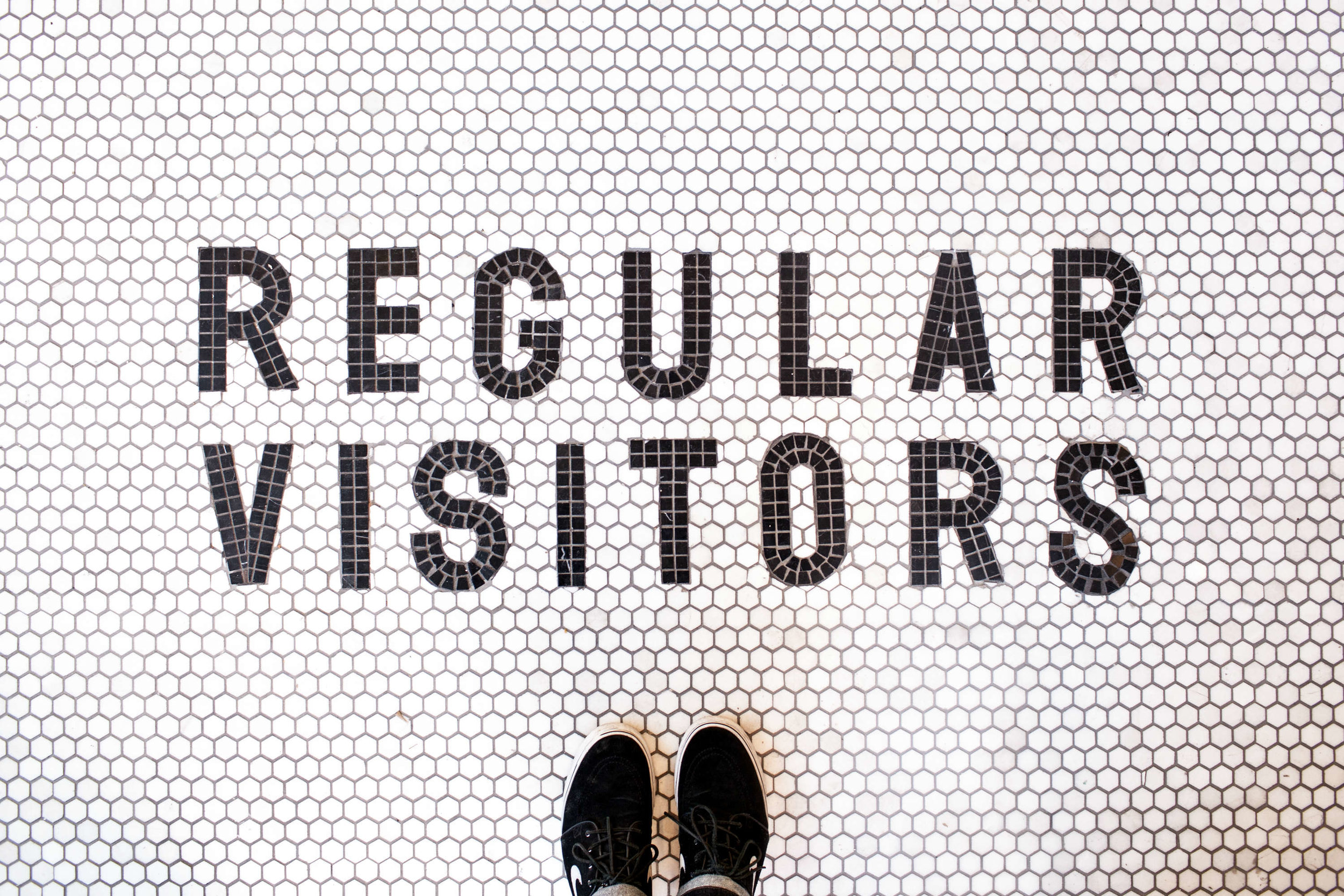 Ph: The beautiful tiles at Regular Visitors