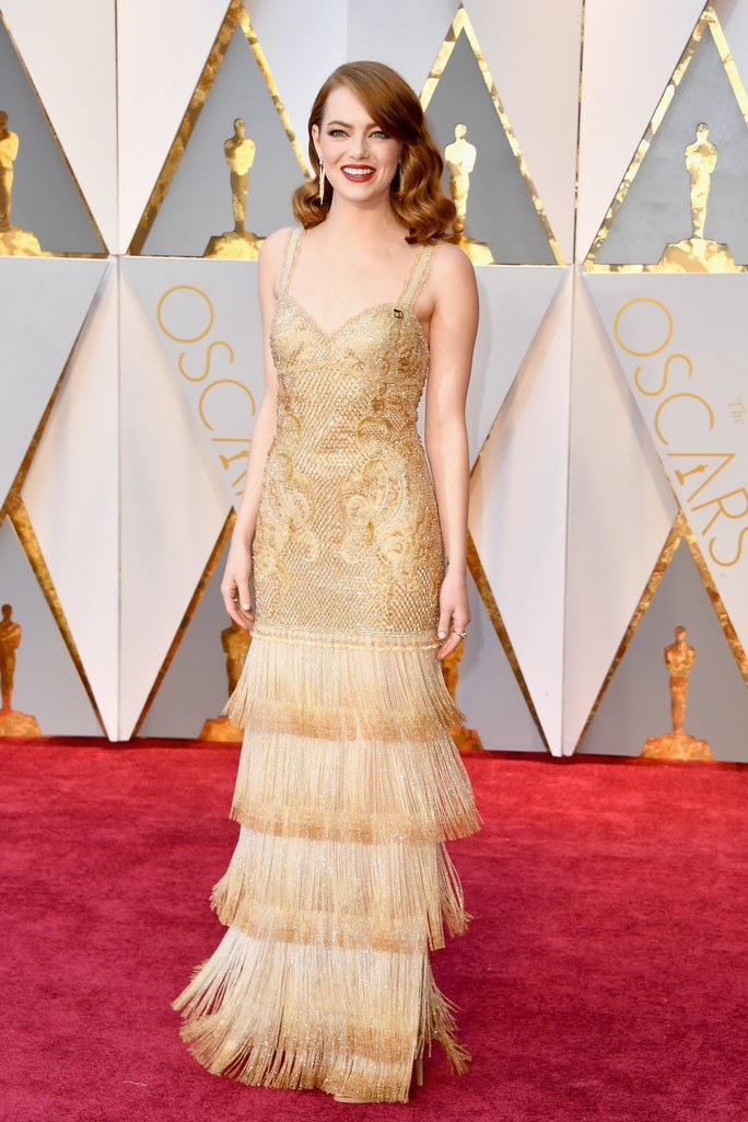 Ph: Emma Stone radiant in Givenchy Haute Couture and Tiffany & Co. jewellery