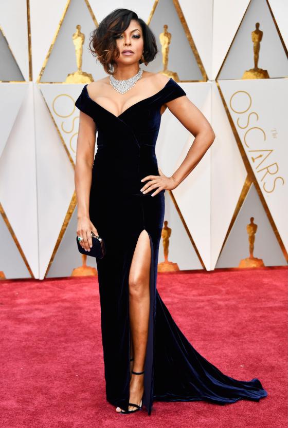 Ph: Taraji P. Henson, exudes Hollywood glamour,in custom Alberta Ferretti