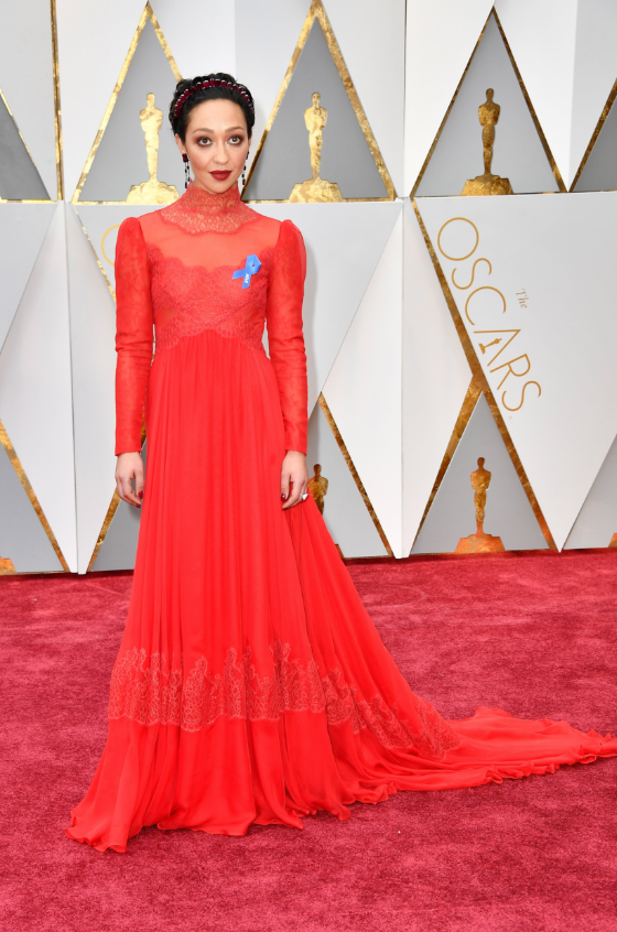 Ph: Ruth Negga,never puts a foot wrong, in Valentino and Irene Neuwirth for Gemfields