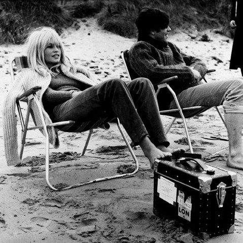 Ph: Brigette Bardot, 1966. On set of A Coeur Joie. Getty Images.