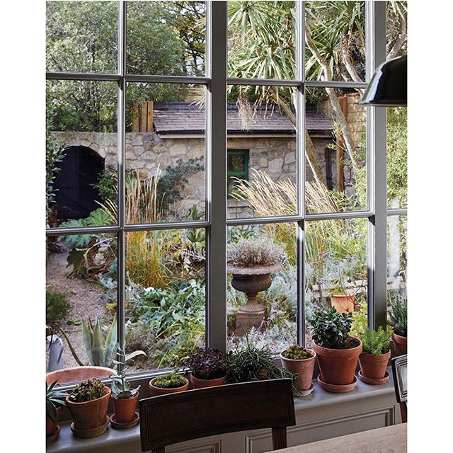 Kitchen-view goals 🌱 ✨ rg @tmagazine #simonwatson #kitchenviews #inspiration