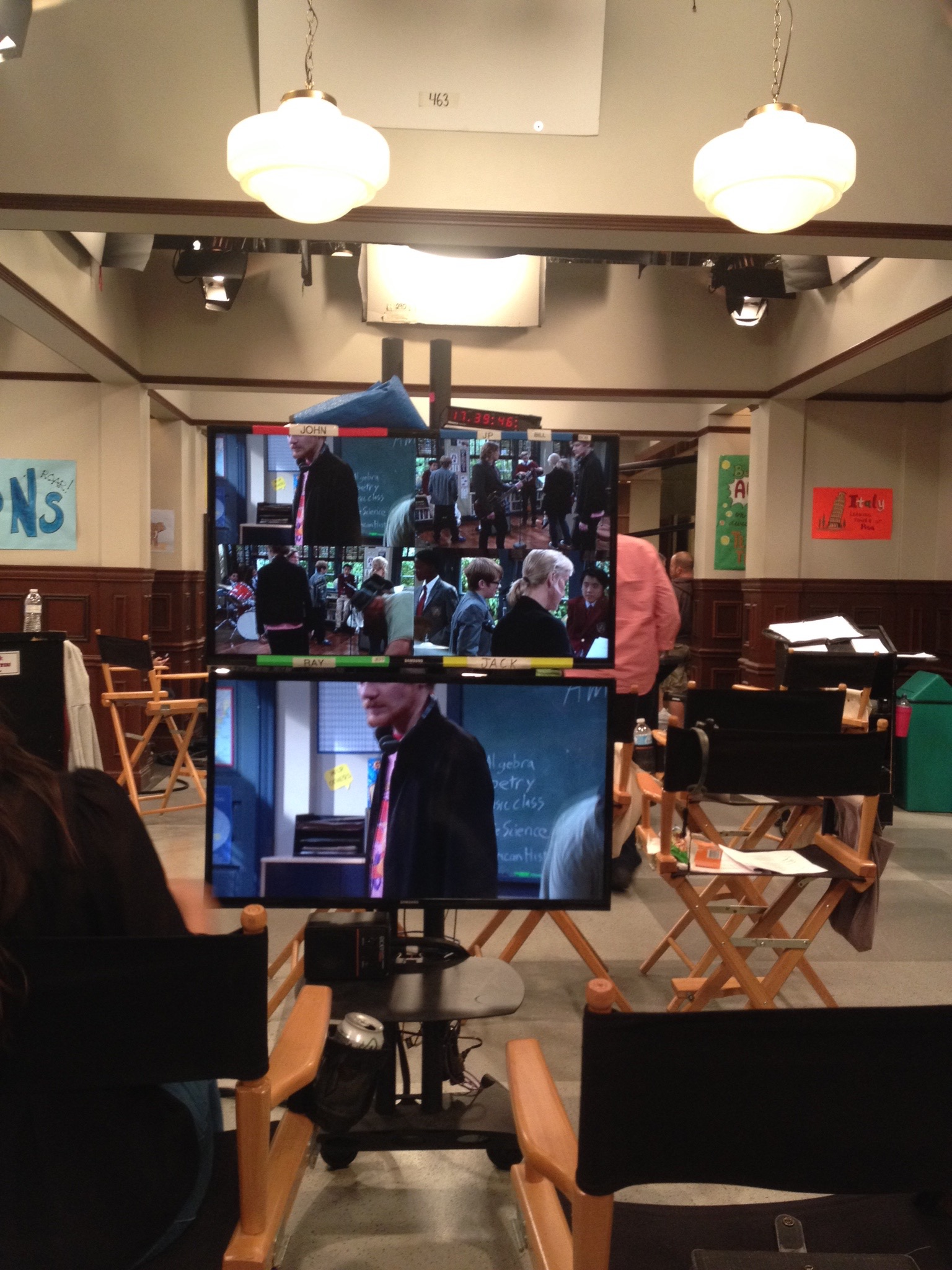 """consulting on set of Nickelodeon's """"School of Rock"""""""