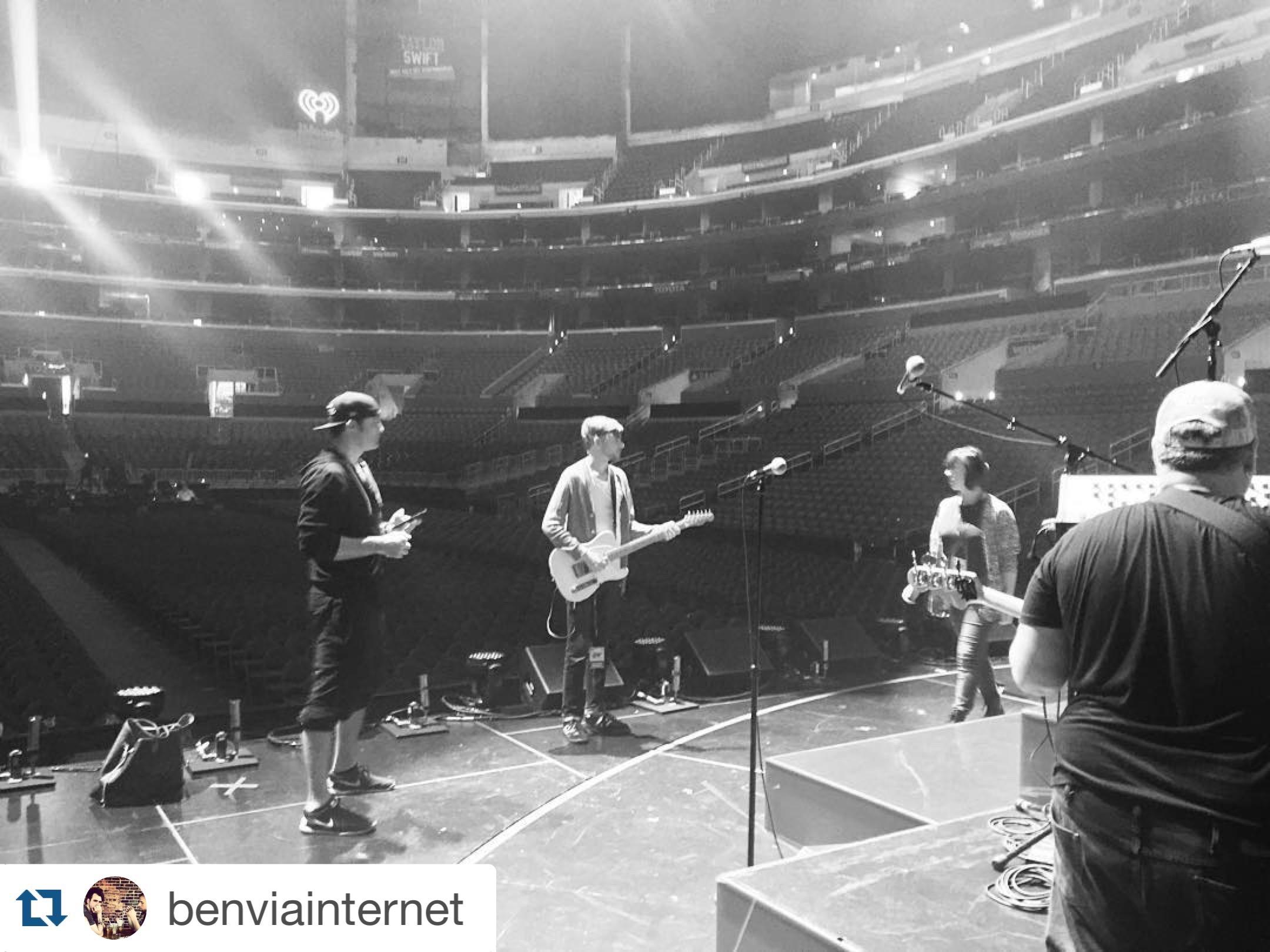 Staples Center, Selena Gomez soundcheck 12/15