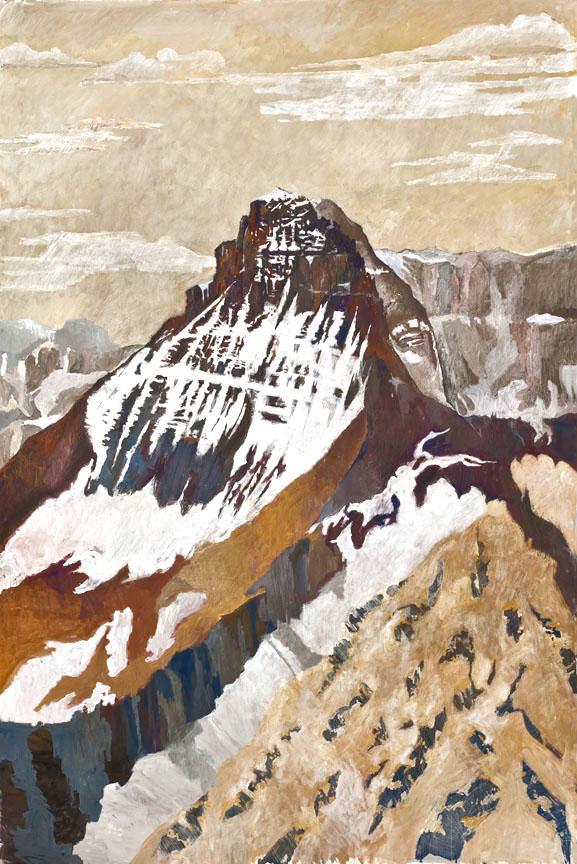 Mt. Wilbur, June 2012. Casein on panel. 75x51. Shay.jpg