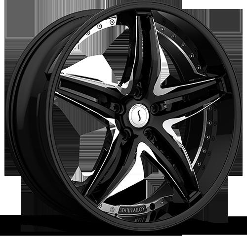 S837 HAZE  Gloss Black w/ Chrome Inserts