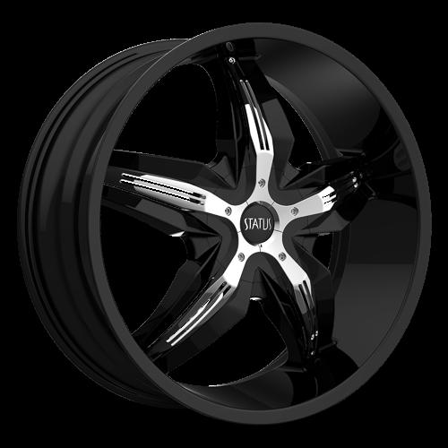 S822 DYSTANY  Gloss Black w/ Chrome Inserts