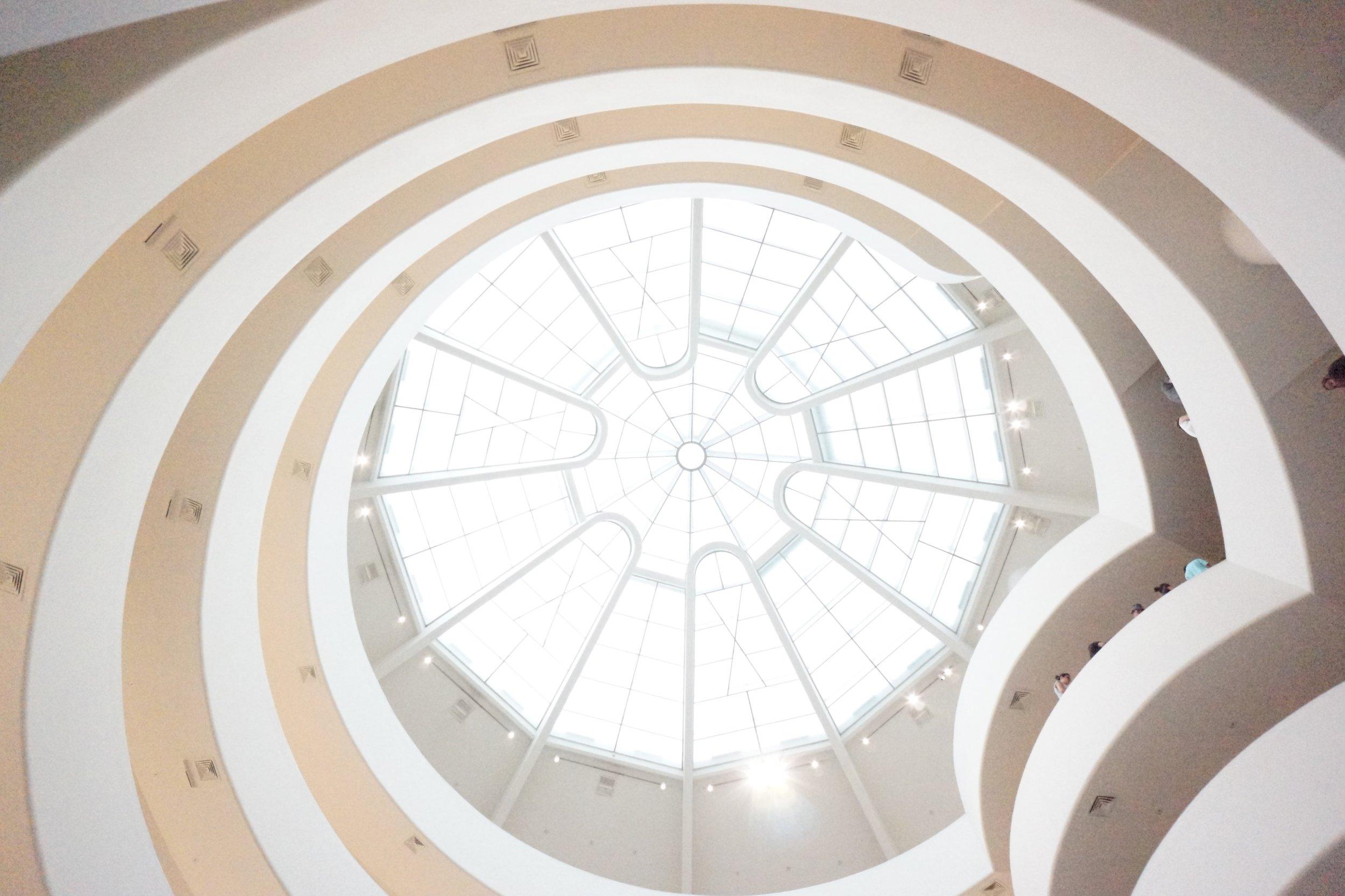 The Guggenheim itself is a work of art. Art within art. Artception?