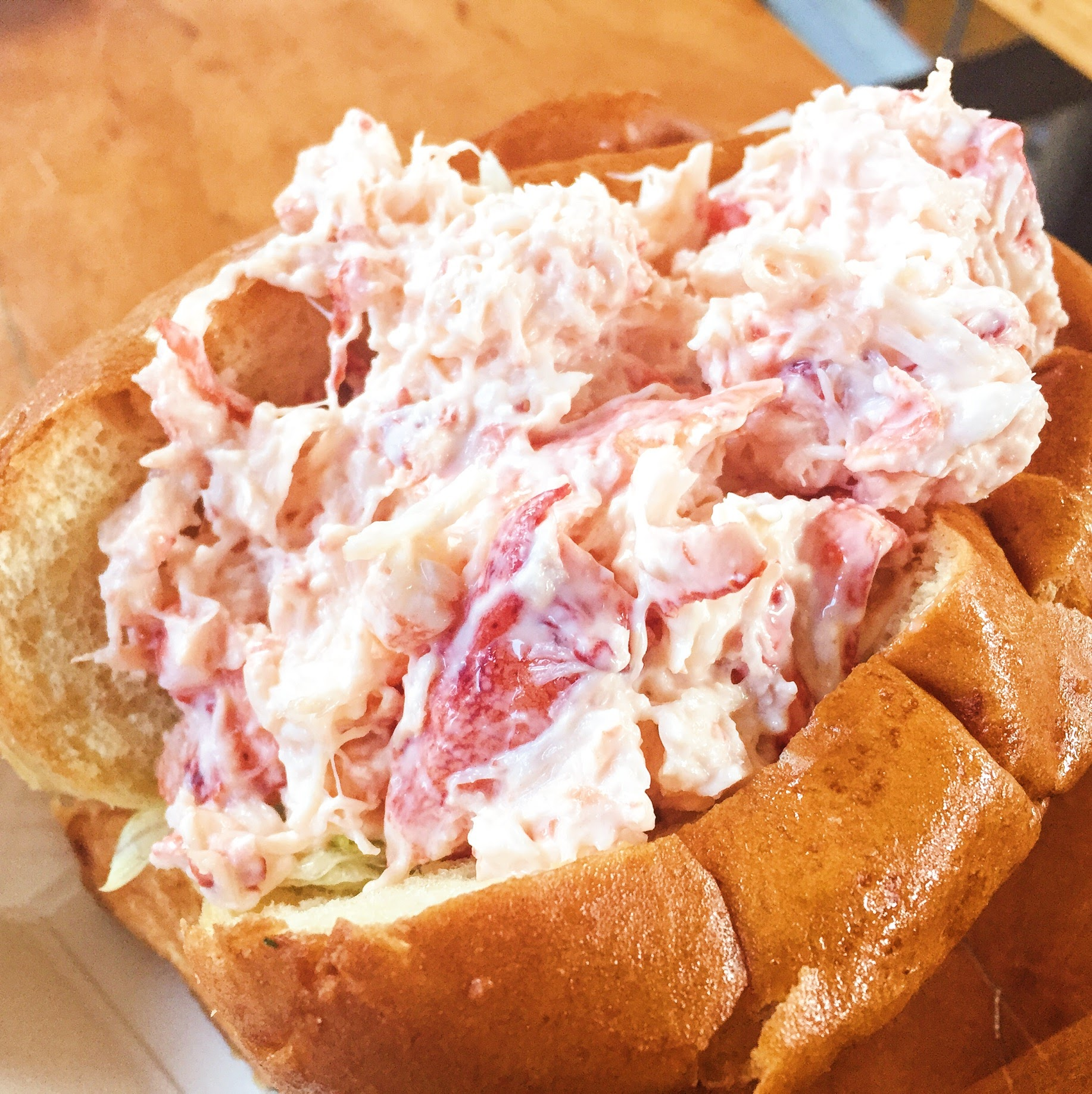 Lobstah- Cold style with Mayo at Quincy Market