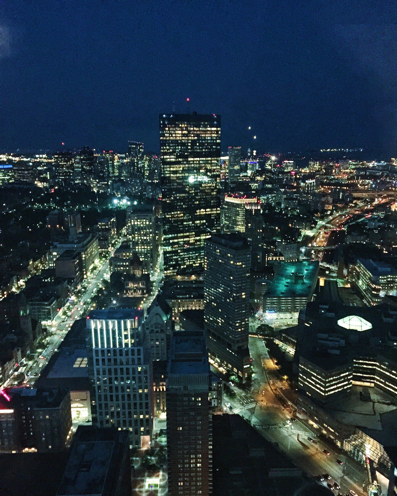 I checked the time the sun set in Boston so we could get both the sunset and the night views!