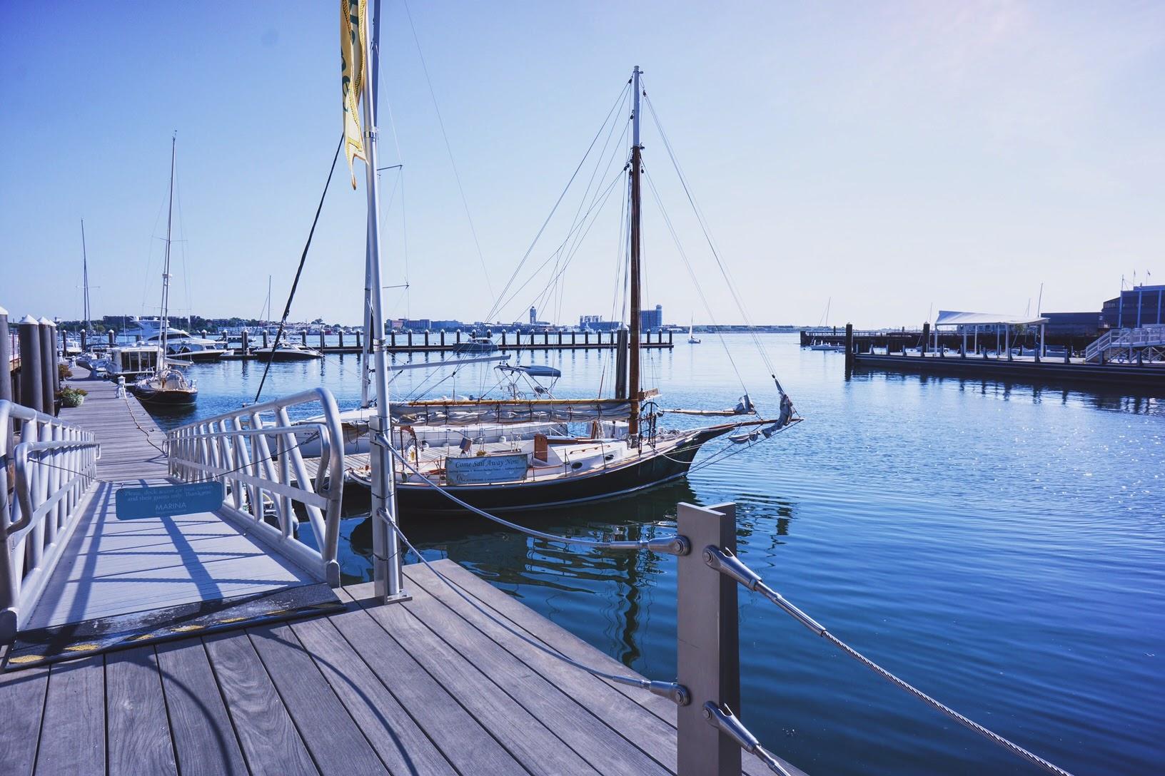The beautiful harbor at Fan Pier