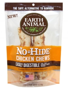 No-Hide Chicken Chews (pack of 2); available on Earthanimal.com