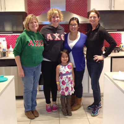 Taking a break from meal prep with Alpha Chi alums at Ronald McDonald House in Baltimore.